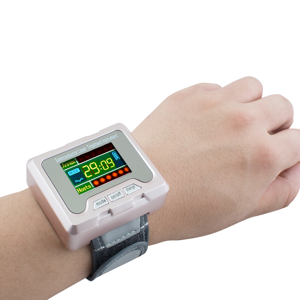 TV 650nm laser therapy Wrist Diode LLLT for diabetes hypertension treatment watch Laser sinusitis Therapeutic apparatus