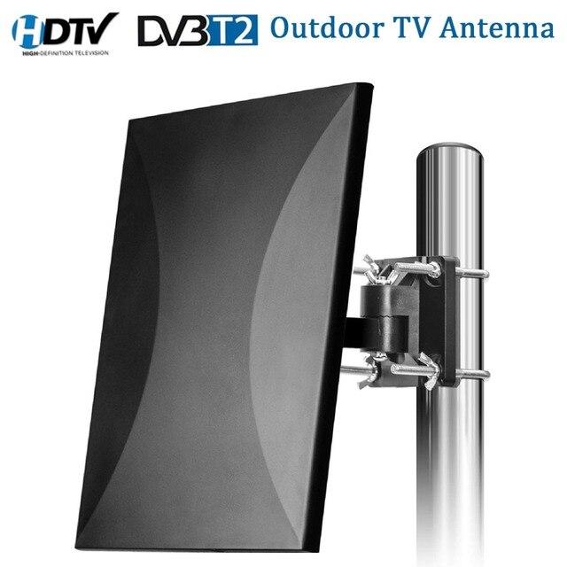 Satxtrem наружная телевизионная антенна 160 км Диапазон HDTV цифровой внутренняя телевизионная антенна кабель для DVB-T2 32.8ft коаксиальный антенный у...