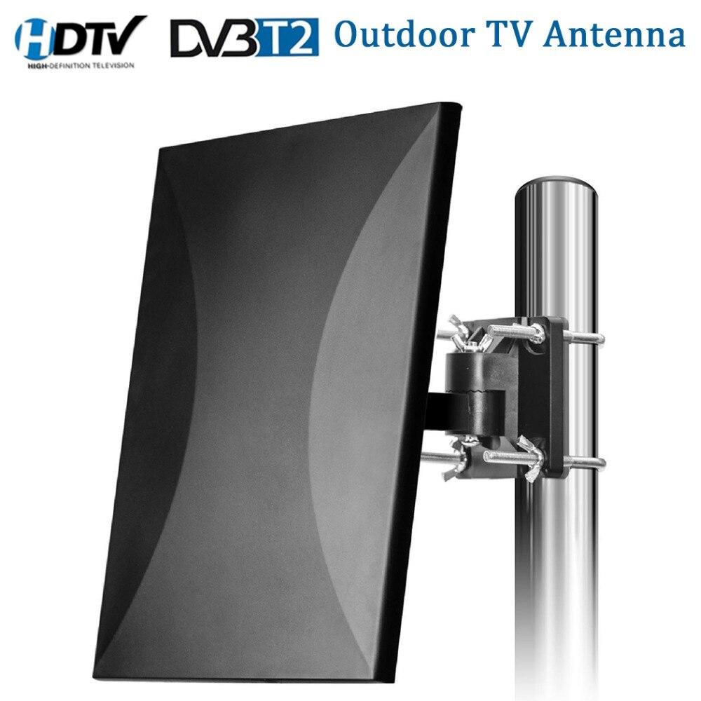 Satxtrem En Plein Air TV Antenne 160 Miles Gamme HDTV TV Numérique Antenne Intérieure Câble Pour DVB-T2 32.8ft Coaxial Amplificateur Signal Booster