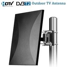 Satxtrem наружная телевизионная антенна 160 миль в диапазоне HDTV цифровой внутренняя телевизионная антенна кабель для DVB-T2 32.8ft коаксиальный антенный усилитель