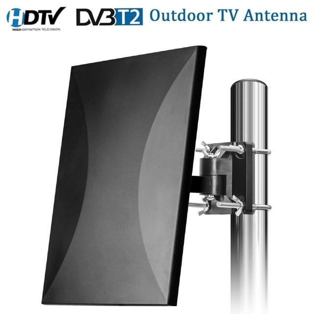 Satxtrem هوائي تلفاز خارجي TDT DVB T2 HDTV التلفزيون الرقمي هوائي داخلي DVBT2 مضخم الهوائي إشارة الداعم HD DVB T2 VHF/UHF