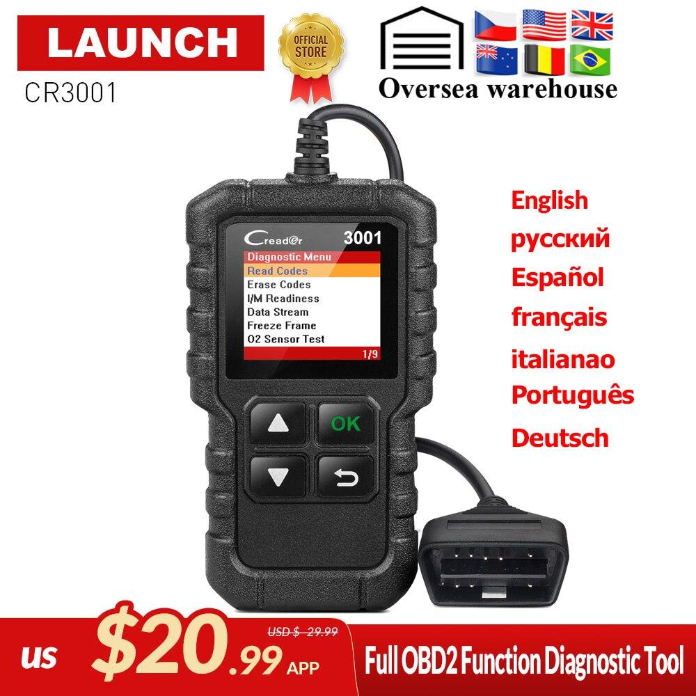 STARTEN X431 Creader 3001 Volle OBD2 OBDII Code Reader Scan werkzeuge CR3001 OBDII Auto Diagnose werkzeug PK AD310 ELM327 OM123 scanner