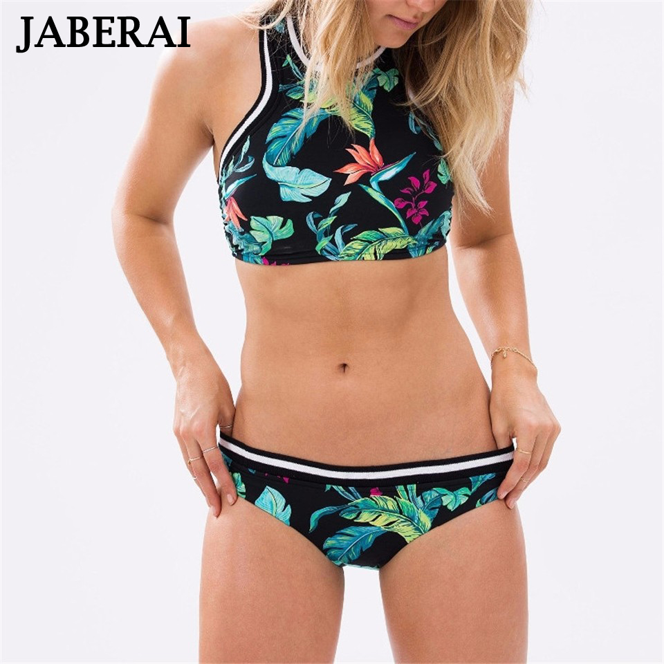 JABERAI Floral Tie Dye Bikinis Vintage Sexy Bathing Suit Women Swimwear Thong Swimsuit High Neck Crop Top Bikini Biquini mujer 8