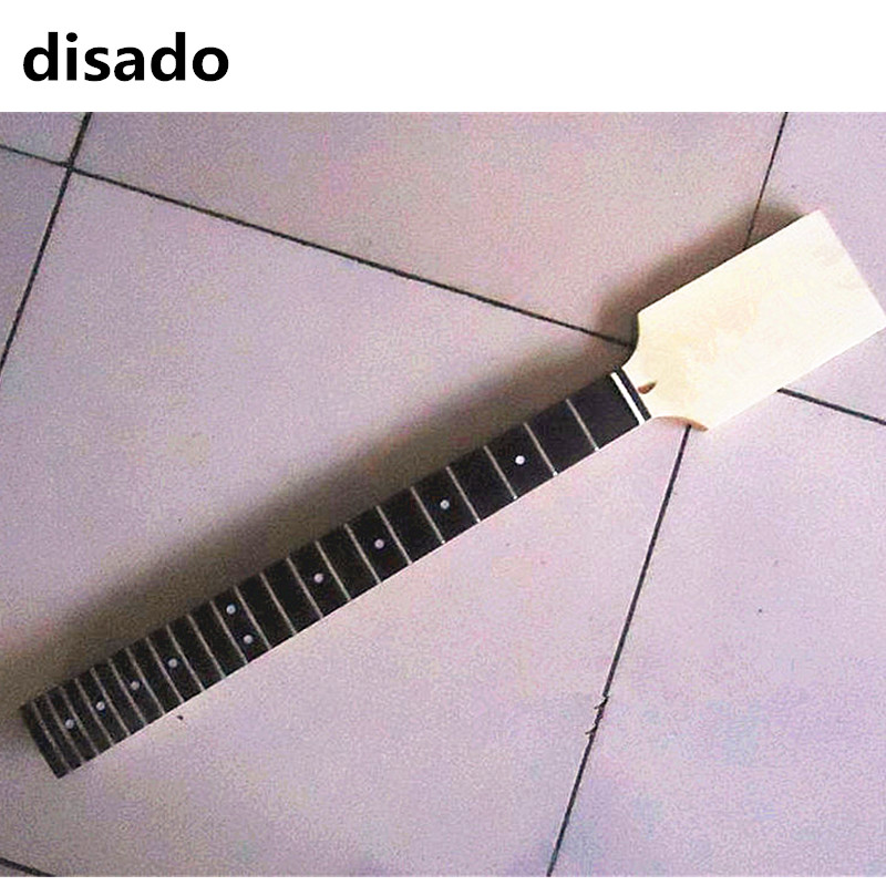 disado 22 Frets maple Electric Guitar Neck rosewood fingerboard paddle headstock Guitar Parts Wholesale accessories maple guitar neck rosewood fingerboard 22 frets for fender st strat replacement parts