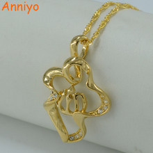 Anniyo allah pendant necklaces for Women Islam Jewelry arab mohammed gold color Muslim Middle Eastern eid al-fater #000419(China)