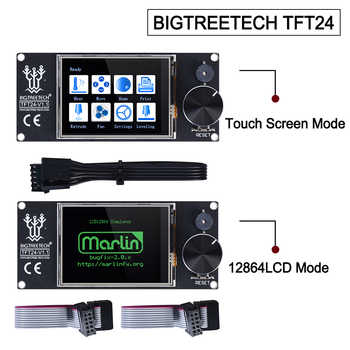 BIGTREETECH TFT24 V1.1 Touch Screen Display compatible 12864LCD 3D Printer Parts VS MKS TFT2.4 For SKR PRO SKR V1.3 Ender-3 - Category 🛒 Computer & Office