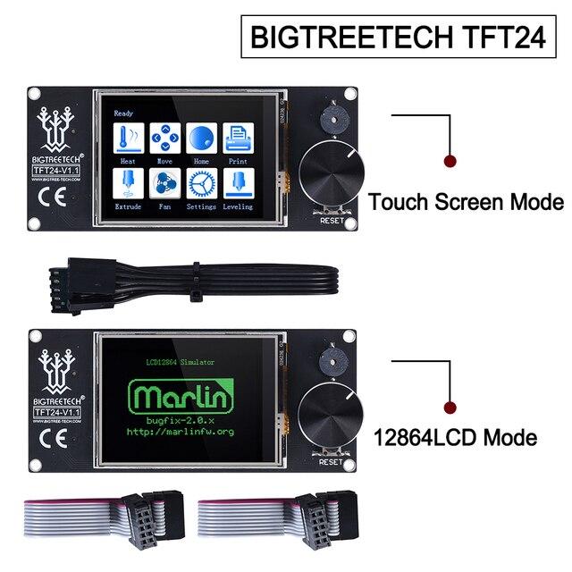 BIGTREETECH TFT24 V1.1 Touch Screen Display compatible 12864LCD 3D Printer Parts VS MKS TFT2.4 For SKR PRO SKR V1.3 Ender-3