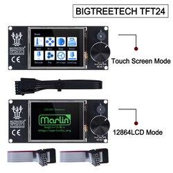 Bigtreetech tft24 v1.1 tela sensível ao toque compatível 12864lcd peças de impressora 3d vs mks tft2.4 para skr pro skr v1.3 Ender-3