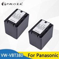 Palo 2pcs 3900mAh VW VBT380 VBT380 Digital Camera Battery for Panasonic HC V110 HC V130 HC V160 HC V180 HC V201 HC V250 HC V260