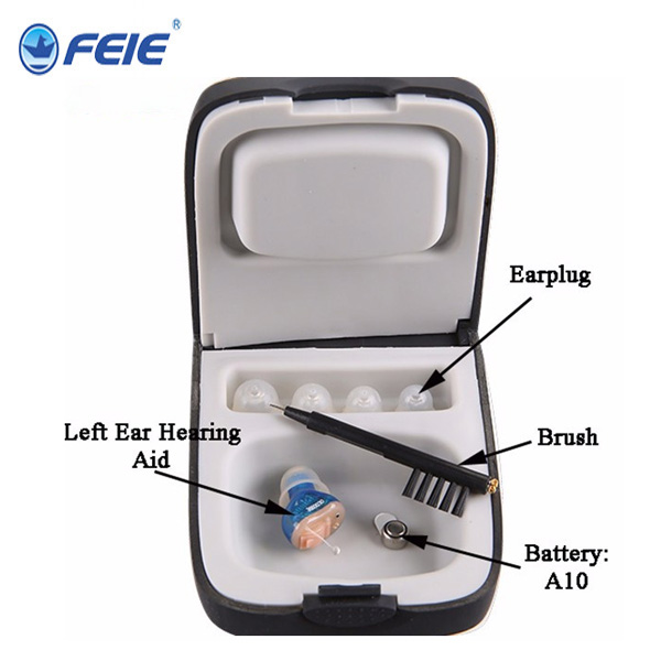 Digital Hearing Aid with good quality soft shell ITC Hearing Amplifier for elderly hearing instrument S-10A
