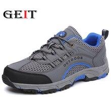 цена Men Hiking Shoes Anti Slip Climbing Camping Shoes Breathable Mesh Trekking Shoes Men Summer Outdoor Wear-Resistance Sport Shoes онлайн в 2017 году