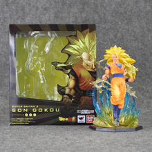 Dragon Ball Z Son Goku PVC Figure Super Saiyan 3 Cool Model Toy 17cm Anime Doll for Collection