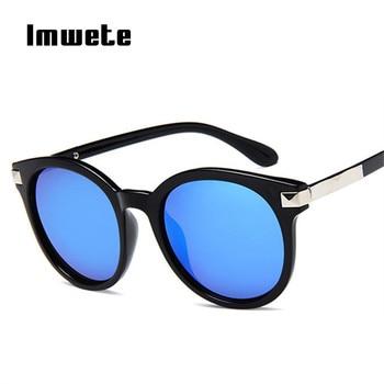 88a87de5af Imwete 2019 Retro gafas de sol de las mujeres diseñador clásico tonos  espejo gafas de sol Vintage reflectante de conducción mujer gafas UV400