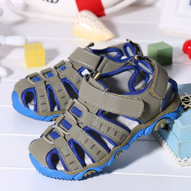 Children Kids Shoes Boy Girl Closed Toe Summer Beach Sandals Shoes Sneakers