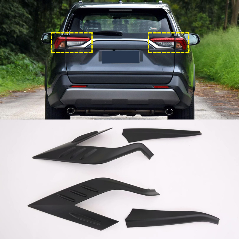 Image 4 - Auto Accessories ABS Raer Light Lamp Eyelind Decoration Cover Trim  2pcs  for Toyota RAV4 2019 2020-in Roof Racks & Boxes from Automobiles & Motorcycles