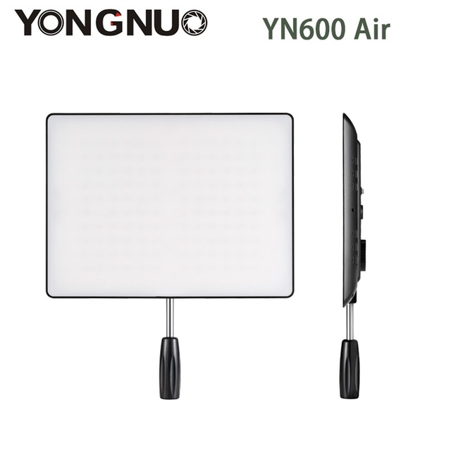 YONGNUO <font><b>YN600</b></font> <font><b>Air</b></font> Ultra Thin LED Camera Video Light 3200K-5500K for Canon Nikon Pentax Olympas Samsung DSLR Camcorder image
