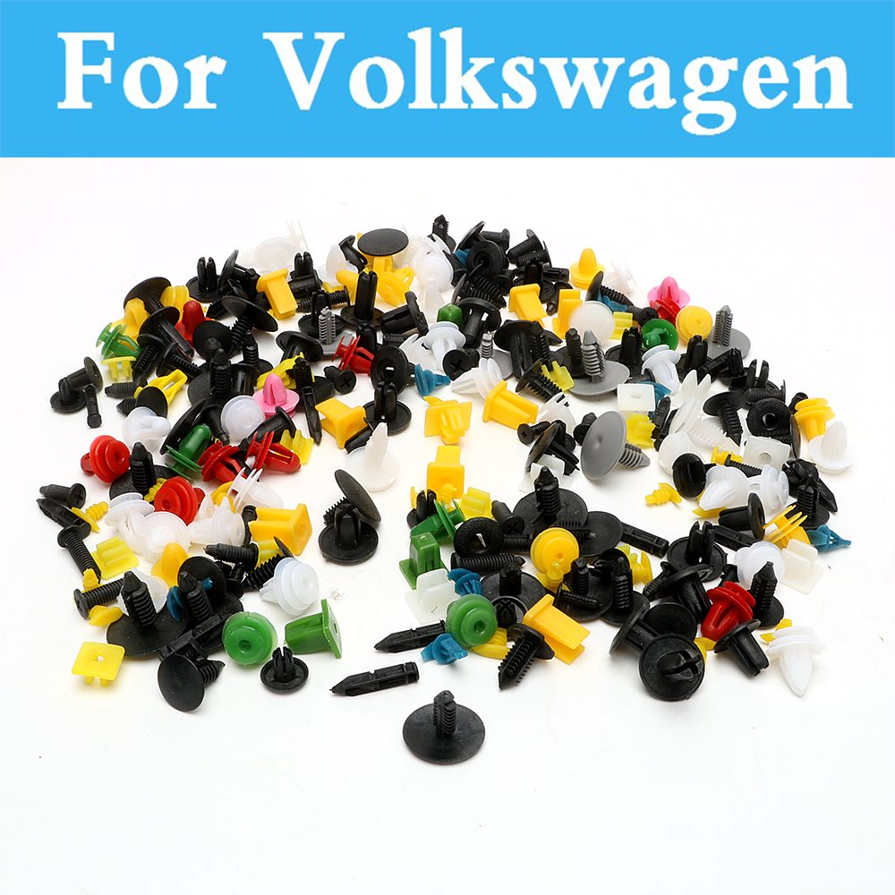 200pcs Car Plastic Cable Mount Clamp Clips Auto Wire Tie For Volkswagen Tiguan Touareg Up Xl1 Polo Gti Polo R Wrc Scirocco R