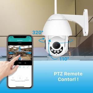 Image 2 - 2MP Wifi PTZ caméra extérieure 1080P 4X Zoom numérique humain détecter la vitesse dôme caméra bidirectionnelle Audio maison CCTV Surveillance IP caméra