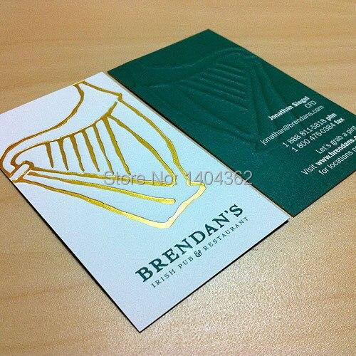 De Haute Qualit Cartes Visite Personnalis Feuille Dor Cadeau Carte Impression
