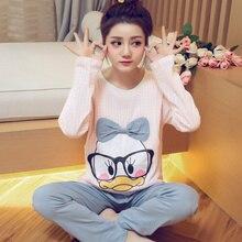 Pajamas for Pregnant Women Sleep Long sleeves Pullover Pyjamas Character Women breast-feeding lounge Pajama Set
