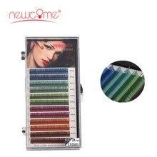 Colorful Eyelash Natural Long soft Lashes Hand Made Silk 3D Individual Lash Color Extension False