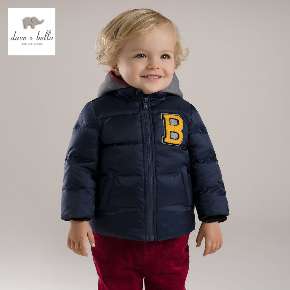 DB2949 dave bella winter baby boy down feather coat  boys  white duck down outerwear boys  navy coat boys fashion jacket db4631 dave bella winter infant coat baby girls red dots printed coat white duck down padded coat hooded outerwear