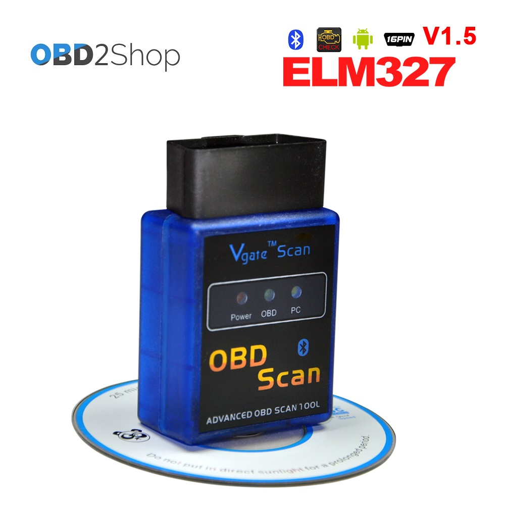 V1.5 Version Super ELM327 Mini Bluetooth OBD2 Diagnostic Tool Works with Android Torque  ...