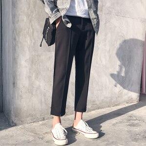 Image 2 - Мужские повседневные шаровары в японском стиле, черные/хаки свободные брюки в стиле хип хоп, большие размеры, 2018, штаны в японском стиле