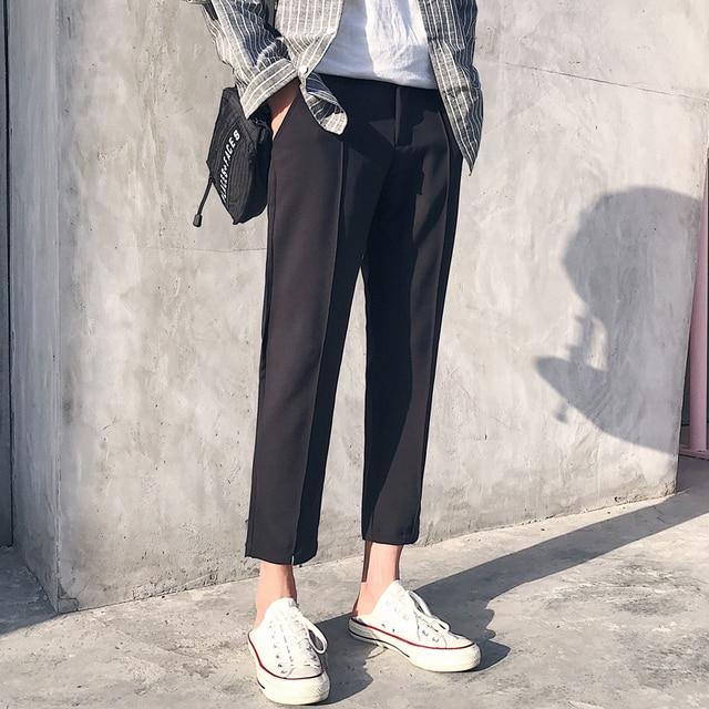2018 Japanese Men's Cotton Casual Harem Pants Fashion Trend Trousers Hip Hop Style Loose Large Size Black/khaki Pants M-3XL 2