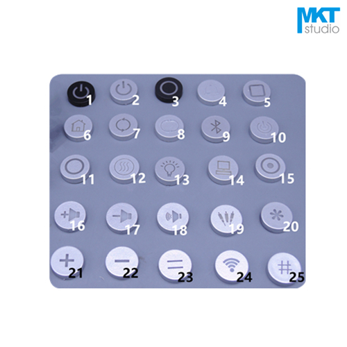 10Pcs Sample Symbol Icon Switch Cap For 6*6mm Tactile Momentary LED Switch