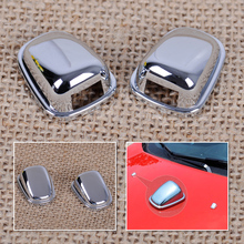 CITALL New Chrome Windscreen Washer Car wiper Water Spray Nozzle Cover sequins Sticker for Ford Ecosport 2013 2014 2015
