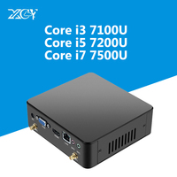 XCY 7th Gen Intel Core i3 7100U i5 7200U i7 7500U Mini PC 4 К HDMI NUC USB3.0 Wi Fi DDR3 Оперативная память Windows 10 Micro настольный компьютер