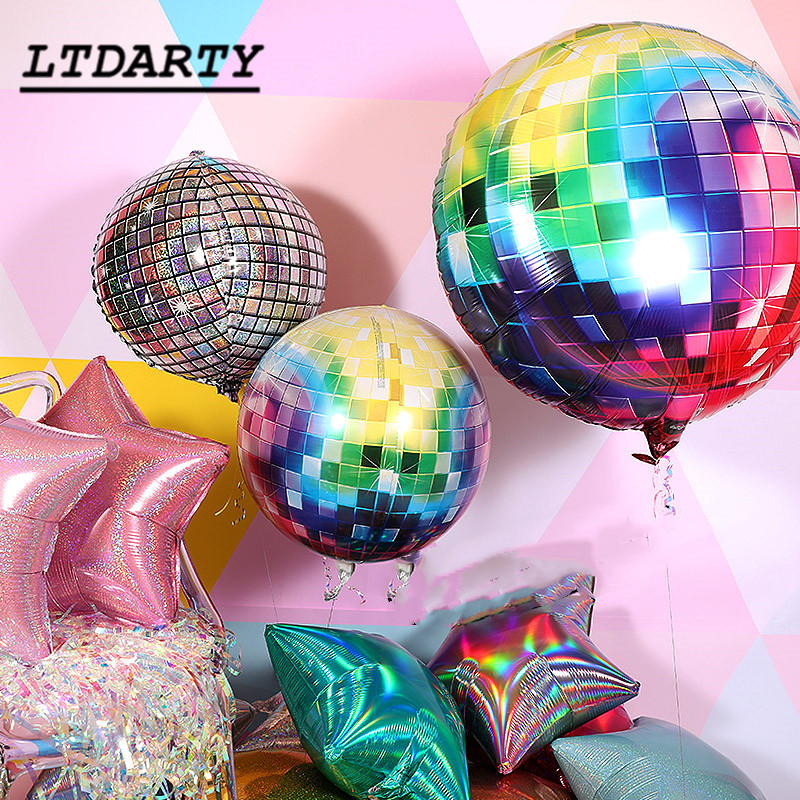 20pcs 22 inch 4D Disco Helium Balloon Color Air Ball For Birthday &Wedding Party Baby Shower Supplies Decorative Balloons-in Ballons & Accessories from Home & Garden