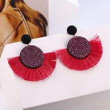 Handmade Women Tassel Earrings Bohemian Statement Luxury Long Crystal Earring Geometric Fringe Big Ethnic 2019