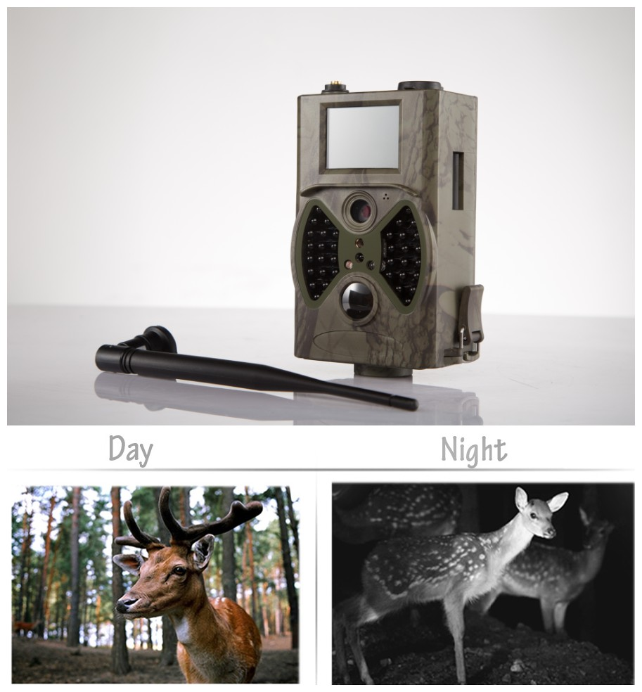 Free shipping HC-300M Outdoor use wireless night vision gsm mms hunting trail camera