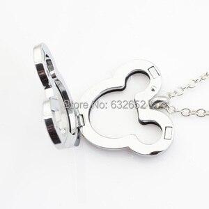 Image 2 - 10 шт./лот, Микки Сердце megnetic плавающий медальон, с бесплатной цепочкой 50 55 см FN0033