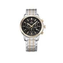 Наручные часы Swiss Military SM34052.04 мужские с кварцевым хронографом на биколорном браслете