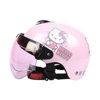 New arrival Hello kitty helmet for Kids,girls E bike helmet Pink cartoon helmet Christmas/Birthday gifts toy for children