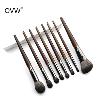 OVW All Goat Hair 7/8/9 PCS Makeup Brush Set Professional Cosmetic conjunto pinceis de maquiagem for Eye Shadow Face Contour 2