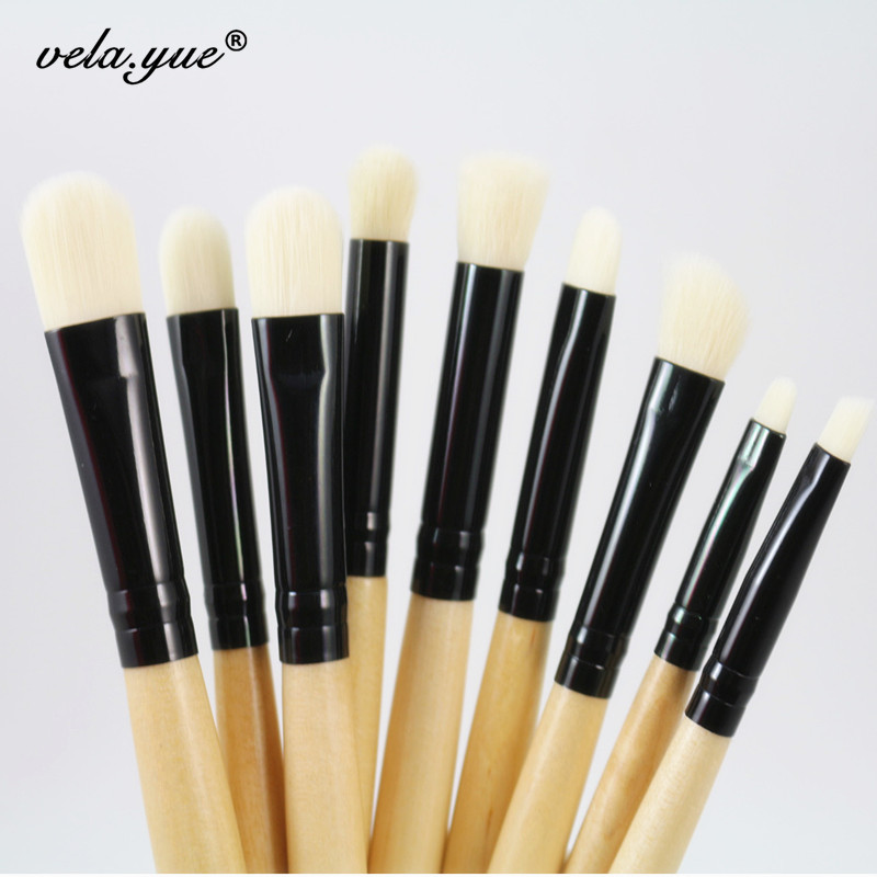 9pcs Professional Makeup Brushes Set For Eye Brushes Eyeshadow Eyeliner Eyebrow Smudge Blending Contour Eyes Makeup Tools Kit brushes for cosmetics 9pcs makeup brushes professional for women gift kit pinceis eyebrows eyes
