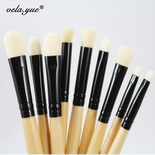 9pcs Professional Makeup Brushes Set For Eye Brushes Eyeshadow Eyeliner Eyebrow Smudge Blending Contour Eyes Makeup Tools Kit