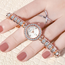 Rose Gold Lady Wristwatch Simple Stylish Female Gifts 2019 Fashion Rhinestone Luxury Women's Bracele