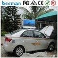 Leeman P6 cor cheia ao ar livre dupla face levou táxi publicidade top/táxi cima do telhado de publicidade sinais de dupla face cheia cor