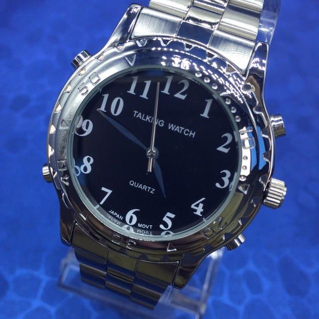84149e0b226 Inglês Falando Relógio Para Cegos Ou Deficientes visuais Mostrador Preto
