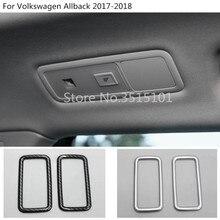Carro de volta traseiro ler leitura da lâmpada interruptor de luz guarnição 2 pcs Para VW Volkswagen Passat Alltrack B8 Variante Sedan 2015 2016 2017 2018