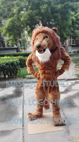 Mascotte muscle fort lion mascotte costume fantaisie personnalisé anime cosplay mascotte fursuit fantaisie carnaval costume