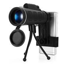 On sale 40×60 Dual Focu Monocular Outdoor Single Mini HD Monoculars for Cell Phone Camera Lens Zoom Telescope Spotting scope