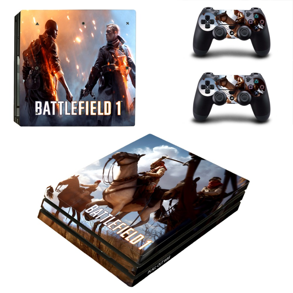 PS4 Pro BATTLEFIELD 1 Skin Sticker Cover For Sony Playstation 4 Pro Console&Controllers