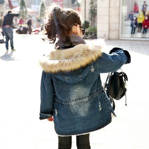 Image 3 - ילדים דנים מעילי בנות החורף לילדים בתוספת עבה מעיל רוח מעיל ברדס חם הלבשה עליונה ארוך Jacket ז אן מעיל בגדים