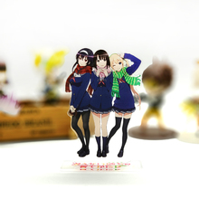 цены Saekano How to Raise a Boring Girlfriend Katou Megumi Sawamura Utaha acrylic stand figure model plate holder cake topper anime